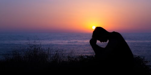 Praying-at-Sunset